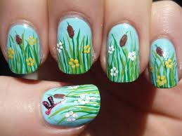 spring grass nail art tutorial youtube