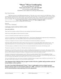sample proposal for services managed service contract template with cover letter landscaping