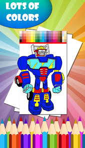 robots coloring book android apps google play