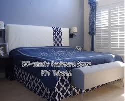 Headboard Slipcover King How To Make A Headboard Slipcover With No Sew Piping Easy And