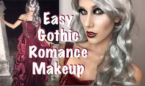 easy gothic romance halloween makeup tutorial cassandra bankson