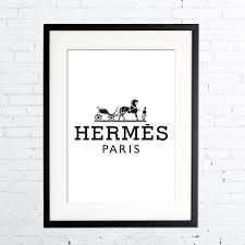 Hermes Home Decor Hermes Logo Print Fashion Print In Black U0026 White Prada Poster Art