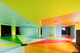 international art duo creates colorful parking lot huffpost