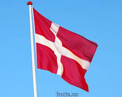 White Flag With Red Cross On Blue Square Denmark Flag Dannebrog Colors Meaning Of Danish Flag