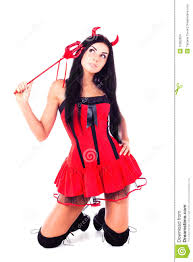 free halloween costumes wearing a halloween costume imp stock images image 16062924