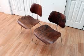 Rosewood Laminate Flooring Eames Dcm Rosewood Chairs An Orange Moon Uber Hip Vintage