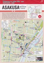 Travel Time Map Map Of Asakusa U0026 Asakusabashi Tokyo Japan Ttt Brochure Rack