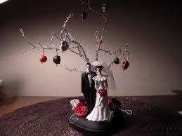 Halloween Cake Topper by Etsy Weddings Featured Item Day Of The Dead Zombie Skeleton