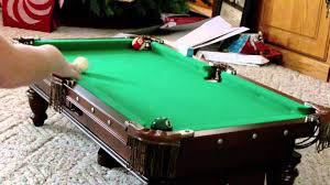 mini pool table youtube