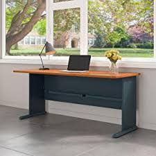 bush series a desk amazon com bush business furniture series a 72w desk in natural
