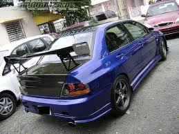 mitsubishi lancer modified view of mitsubishi lancer evolution vii photos video features
