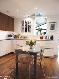 cuisine contemporaine blanche une cuisine contemporaine blanche et bois jomary côté maison