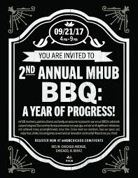 you are invited to celebrate 2nd annual mhub bbq a year of progress mhub chicago il