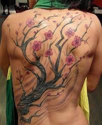 cherry blossom tree on back creativefan