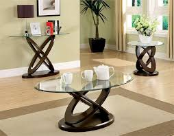 Wood Oval Coffee Table - trendy and modern glass oval coffee table