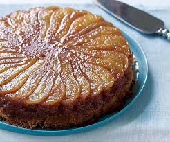 caramelized pear upside down cake finecooking