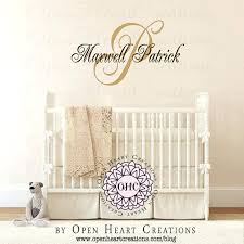 Custom Wall Decals For Nursery Personalized Wall Decals For Nursery With Initial With Name