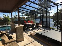 waterfront 4 bedroom home on beautiful tamp vrbo beautiful view from enormous covered patio