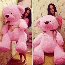 big valentines day teddy bears stuffed 95cm big pink plush teddy soft 100 cotton