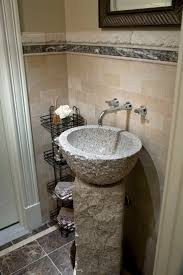 bathroom small powder room vanities design ideas with stone bowl
