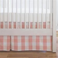 Bed Skirt For Crib Light Coral And Buffalo Check Crib Skirt Single Pleat