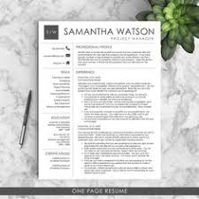 resume template cv template for word creative customizable