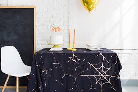 halloween fabric tablecloth diy spider web tablecloth the house that lars built