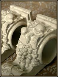 Curtain Rod Sconce Set Of 2 Shabby Cottage Chic Drapery Wall Sconce Shelf