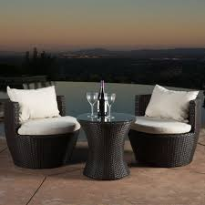 Outdoor Furniture 3 Piece by Kyoto Outdoor Patio Furniture Brown Wicker 3 Piece Chat Set W