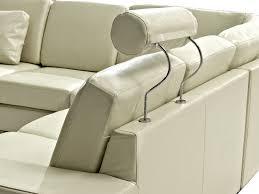 leather sectional sofa beige stockholm beliani com