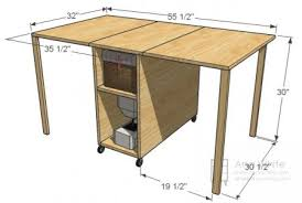 folding craft table plans plans diy free download outdoor