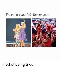 Being Tired Meme - freshman year vs senior year tired of being tired girl meme on me me