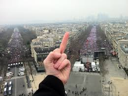 anti marriage protests yesterday in paris some guy working on