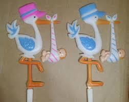 stork baby shower decorations plastic stork etsy