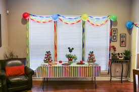 Mickey Mouse Nursery Curtains by Our Colorful Mickey Themed Baby Shower U2013 The Photographer U0027s Wife