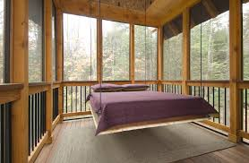 hideabed porch rustic with bed swing conventional hanging bed logs