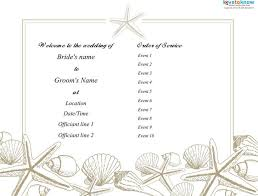 Wedding Program Sample Template Wedding Program Templates Download Free U0026 Premium Templates