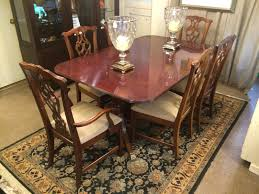 inlaid dining table and chairs mahogany dining room sets home design furniture wood in brown finish