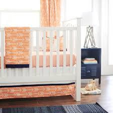 Portable Mini Crib Bedding Sets by Orange Crib Bumper Solid Orange Portable Crib Bedding Carousel