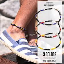 beaded ankle bracelet images Lux style rakuten global market anklet mens beadings native jpg