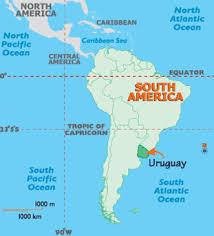 south america map equator map of uruguay south america