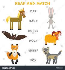 kids words learning game worksheet read stock vector 420474478