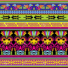 seamless background with animals mexican ornament royalty free