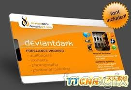 advertising card id template psd free download