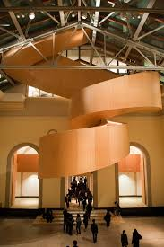 interior wonderful design of fancy spiral staircase placed in