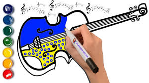 violin coloring page musical instruments coloring youtube