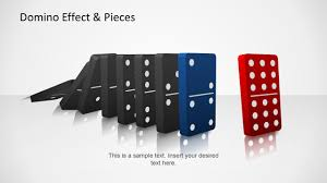 domino domino effect u0026 pieces template for powerpoint slidemodel