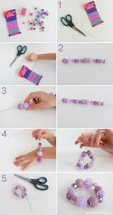 bracelet elastic string images Bracelet tutorial chunky beads gabrielle the d i y dreamer jpg