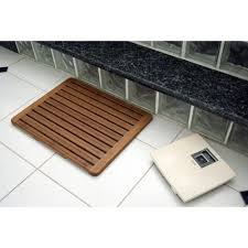 Bath Mat Wood Wooden Bath Mat Mould And Mildew Free Weu0027ve Been Living With