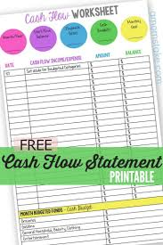 Rental Income And Expenses Spreadsheet Personal Cash Flow Statement Worksheet Cash Flow Statement Free